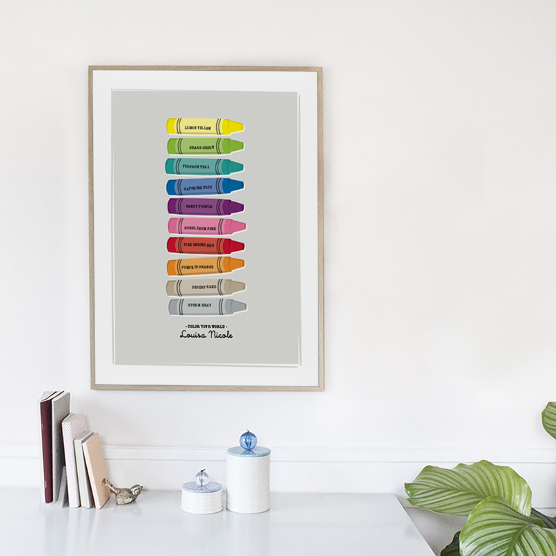 Color Your World children's art print by Ann Gardner
