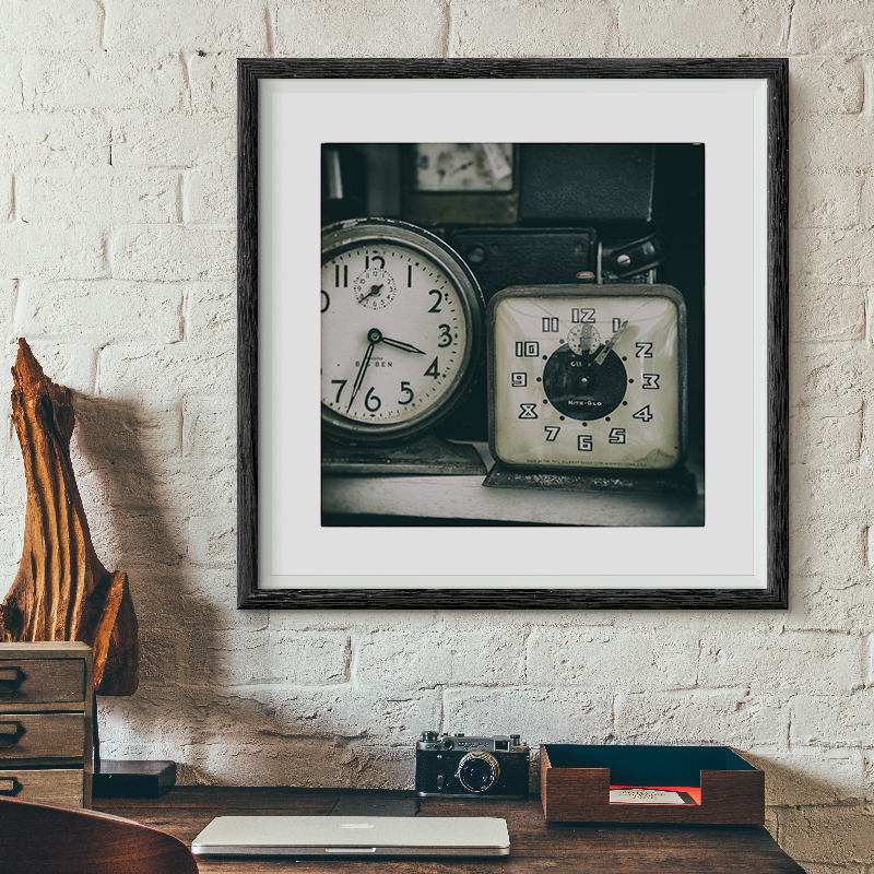 Image of Two Clocks photography art print by Ann Gardner