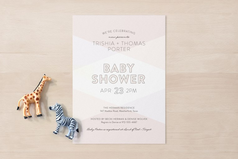Color Blocked baby shower invitation