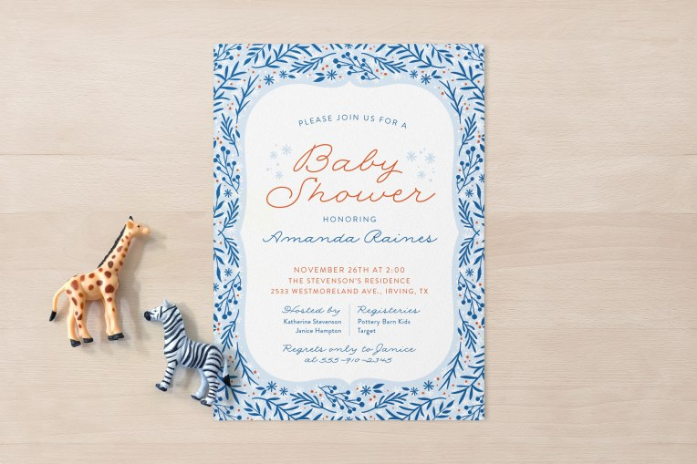 Cool Breeze baby shower invitation