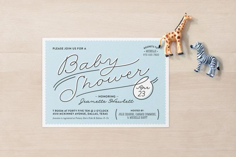 Marseille baby shower invitation