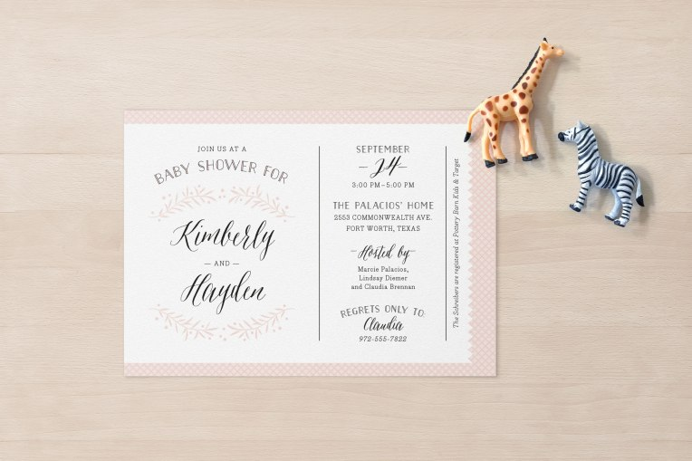 Quilted baby shower invitation design