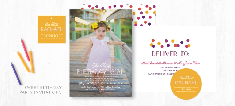 Image of Sweet Birthday party invitation